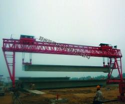 铁路京哈线大桥施工现场
